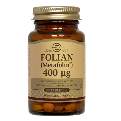 SOLGAR Folian (Metafolina) 400 µg 50 tabletek
